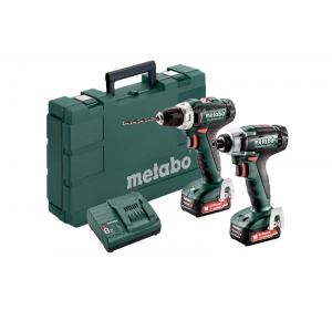 Набор инструментов Metabo Combo Set 2.7.1 12 V * BS+SSD, 2x2.0Ah ( шуруповерт BS + гайковерт SSD)